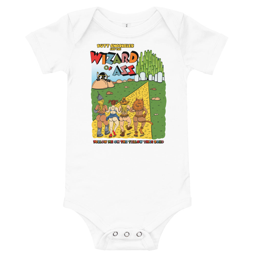 Baby short-sleeve Onezie - Wizard of Ass