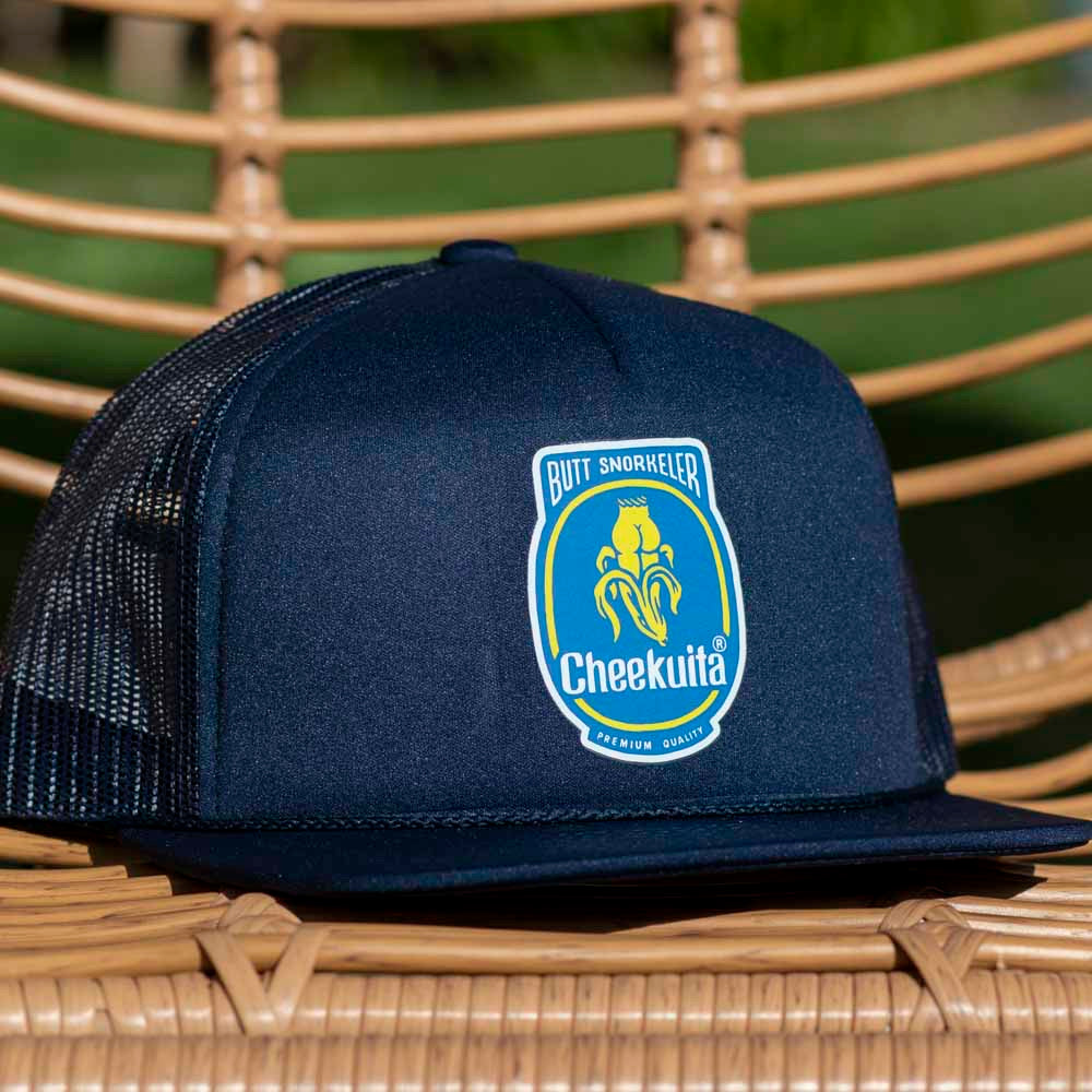Cheekuita By Banana Foam Trucker Hat - Navy blue