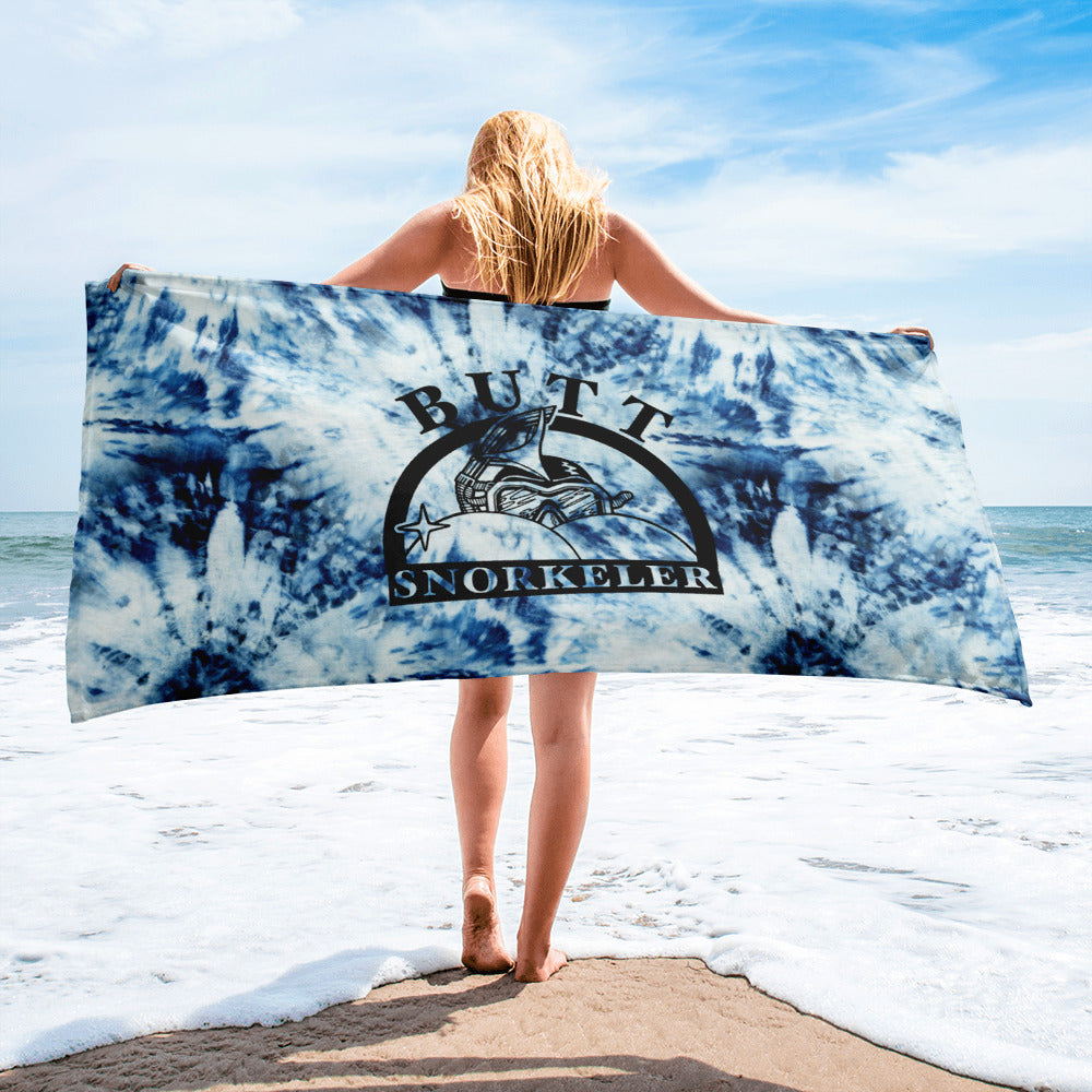 Blue Tie Dye BS Logo Towel