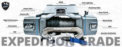 SUPERWINCH EXP 8 SI S102734 8,000 SYNTHETIC ROPE WINCH