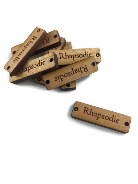 NARROW Wood Tags