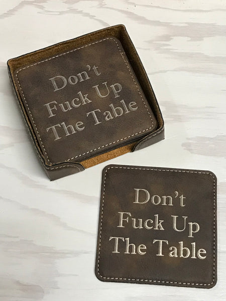 F-up the Table Coasters