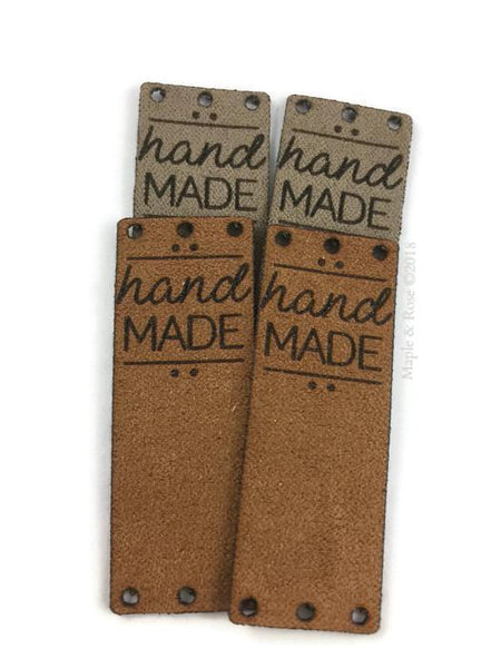 'HAND MADE' Suede tags