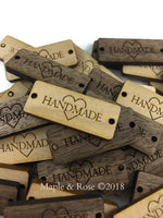 'HANDMADE' wood tags