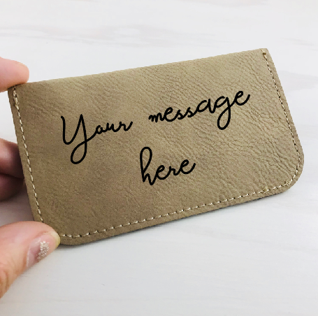 Handwriting Soft Card Holder