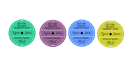 Vinyl Record Coasters - Wedding