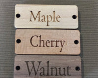 "OVAL custom tags 1.25""x0.5"""