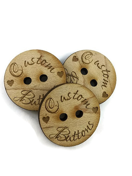 Custom buttons - QTY: 10 - 1""