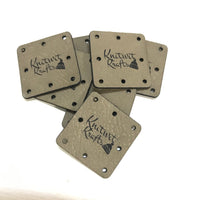 Leatherette Square Tags
