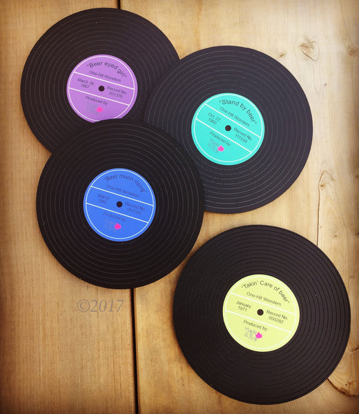 Vinyl Record coasters - Beer