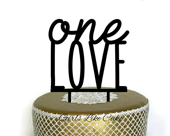 One Love Cake Topper