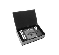 Flask Set Leatherette Box