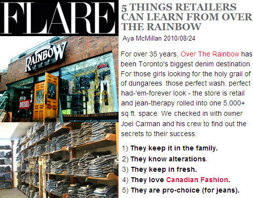 IN THE PRESS | OTR x FLARE Magazine x 5 Tips for Retailers 2010