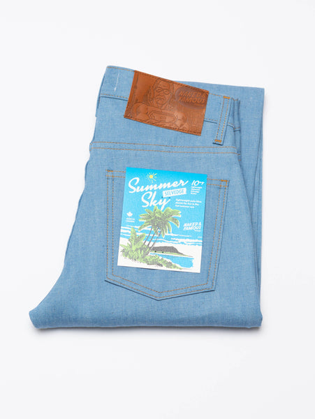 Nice Guy Selvedge Jean - Summer Sky-Naked & Famous-Over the Rainbow