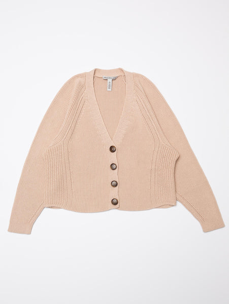 Oversized Boxy V Neck Shaker Cardigan-AUTUMN CASHMERE-Over the Rainbow