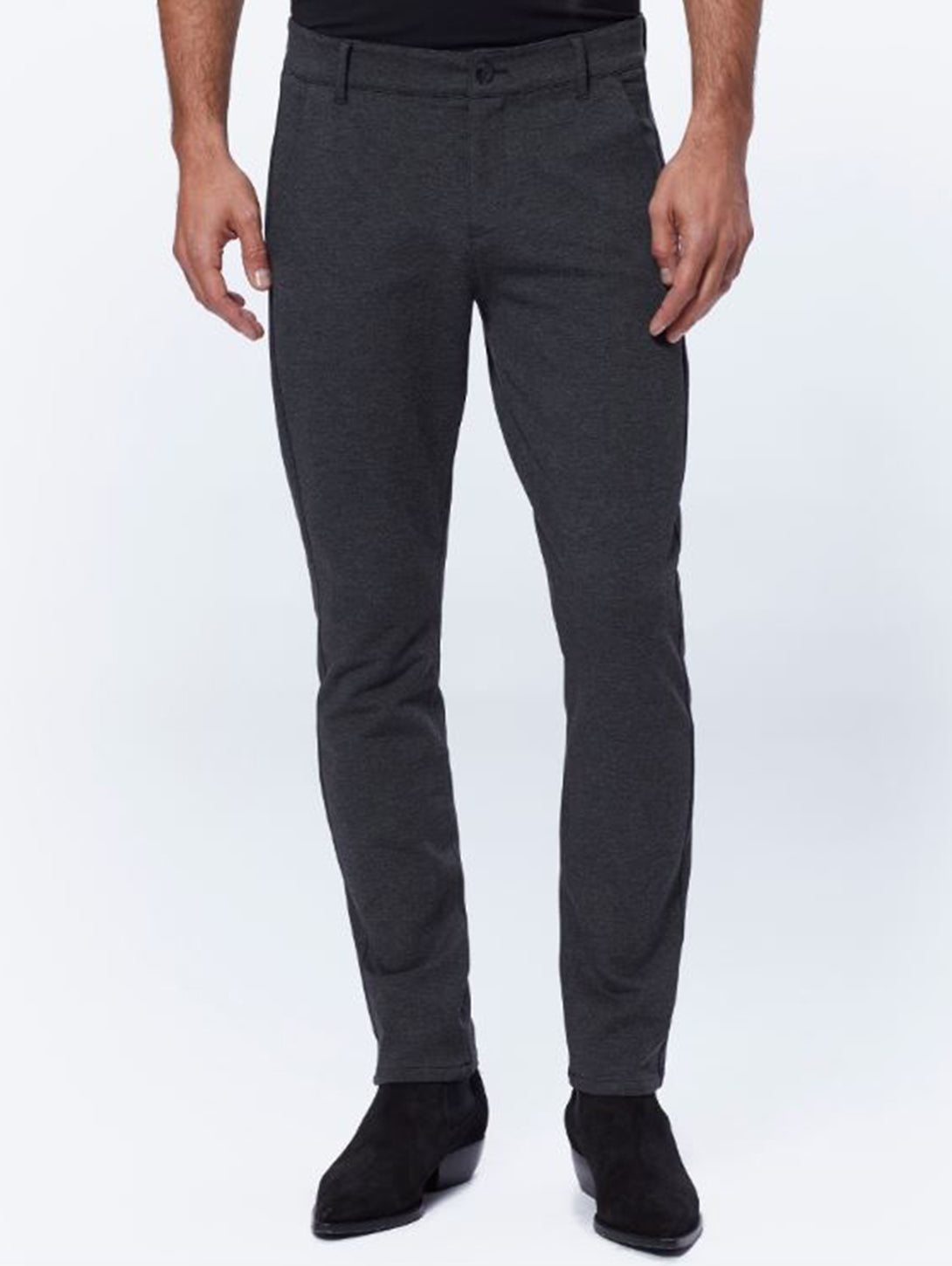 Stafford Slim Pant in Iced Black-Paige-Over the Rainbow