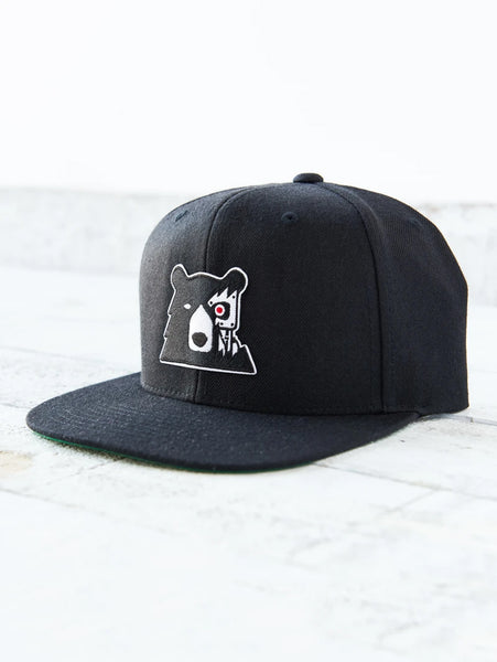 Snapback Cyber Bear Hat - Black/Black-North Standard Trading Post-Over the Rainbow