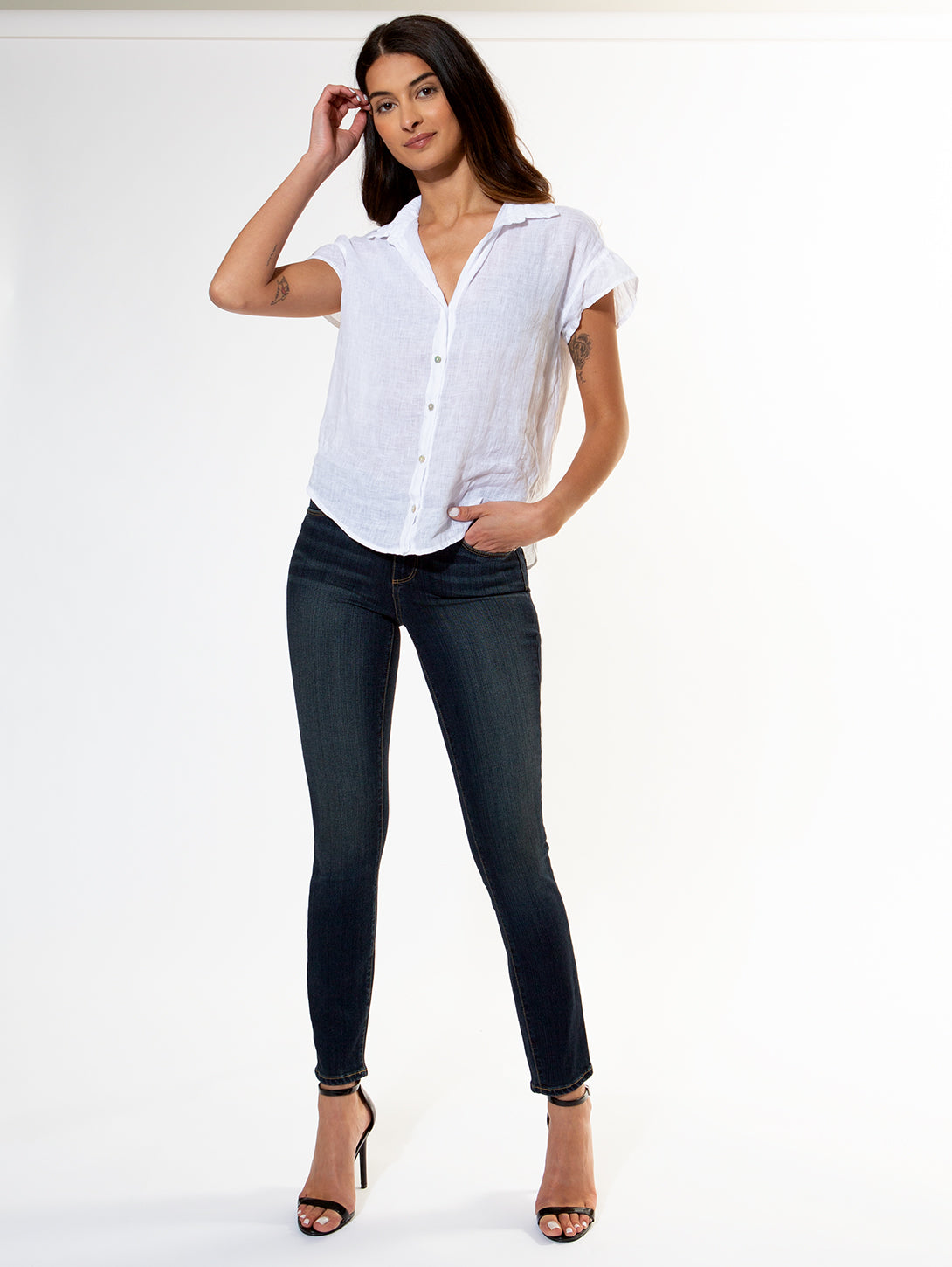 Verdugo Mid Rise Ankle Skinny Jean - Transcend Nottingham-Paige-Over the Rainbow