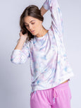 Marble Vibes Long Sleeve Top-PJ Salvage-Over the Rainbow