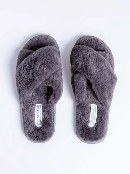 Faux Fur Slides-PJ Salvage-Over the Rainbow