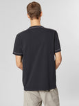 Jersey Hooped Sleeve Crew T-Shirt - Eclipse-CP COMPANY-Over the Rainbow