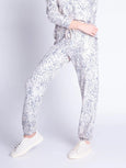 Peachy Party Neutral Leopard Banded Pant-PJ Salvage-Over the Rainbow