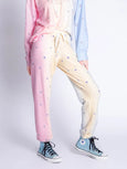 Peachy Party Tie Dye & Stars Banded Pant-PJ Salvage-Over the Rainbow