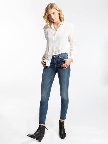 B(Air) Authentic Denim High Rise Ankle Skinny Jean - Luck-Seven for all Mankind-Over the Rainbow