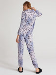 Tie Dye Pajama Jogger Pant - Leopard-Bella Dahl-Over the Rainbow