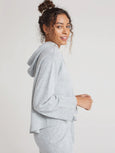 Cashmere Rib Hooded Sweater - Heather Grey-Bella Dahl-Over the Rainbow