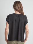 Hudson Linen Crew Neck T-Shirt-Velvet-Over the Rainbow