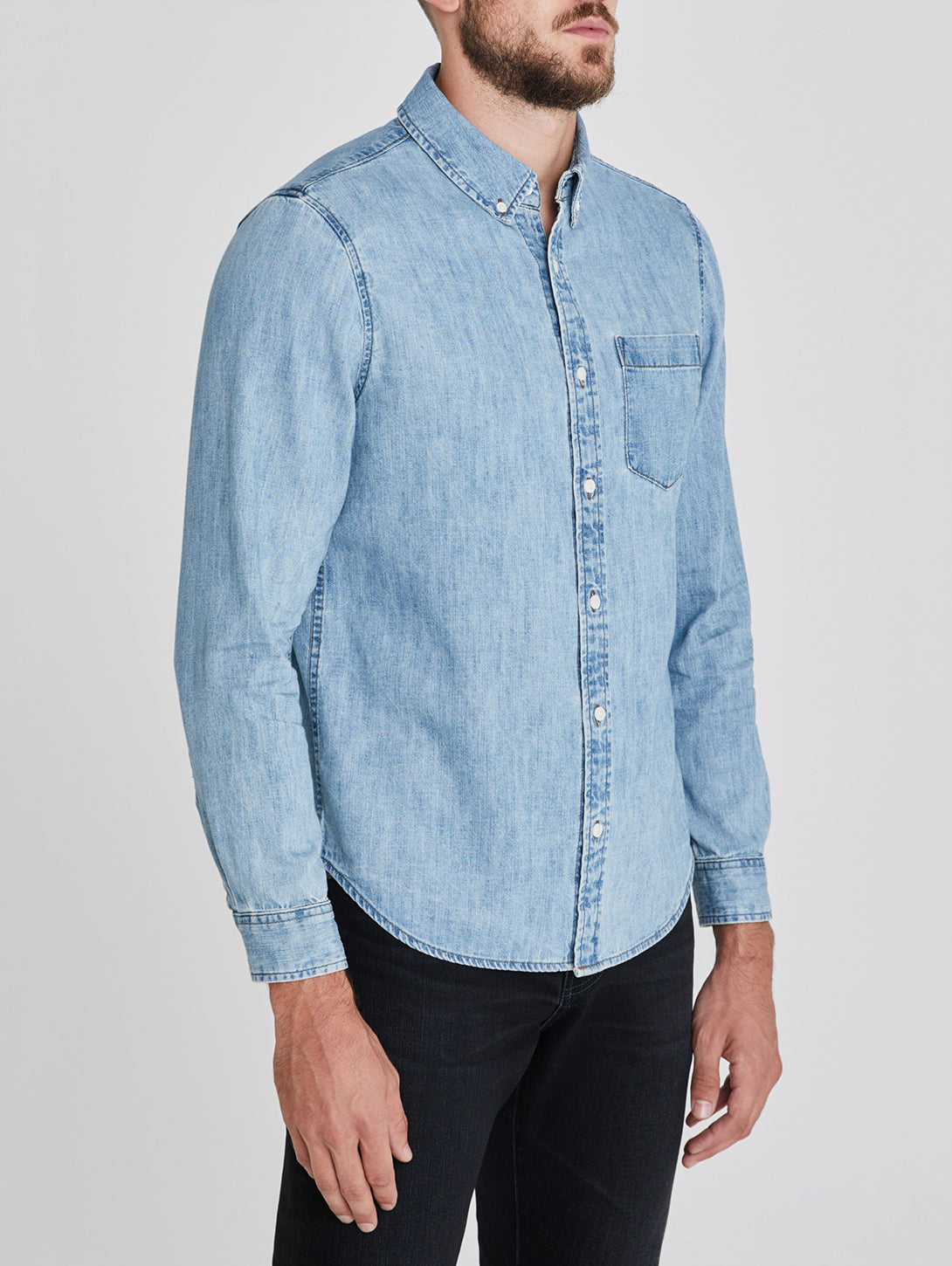 Aiden Classic Long Sleeve Button Down Shirt - Caveat-AG Jeans-Over the Rainbow