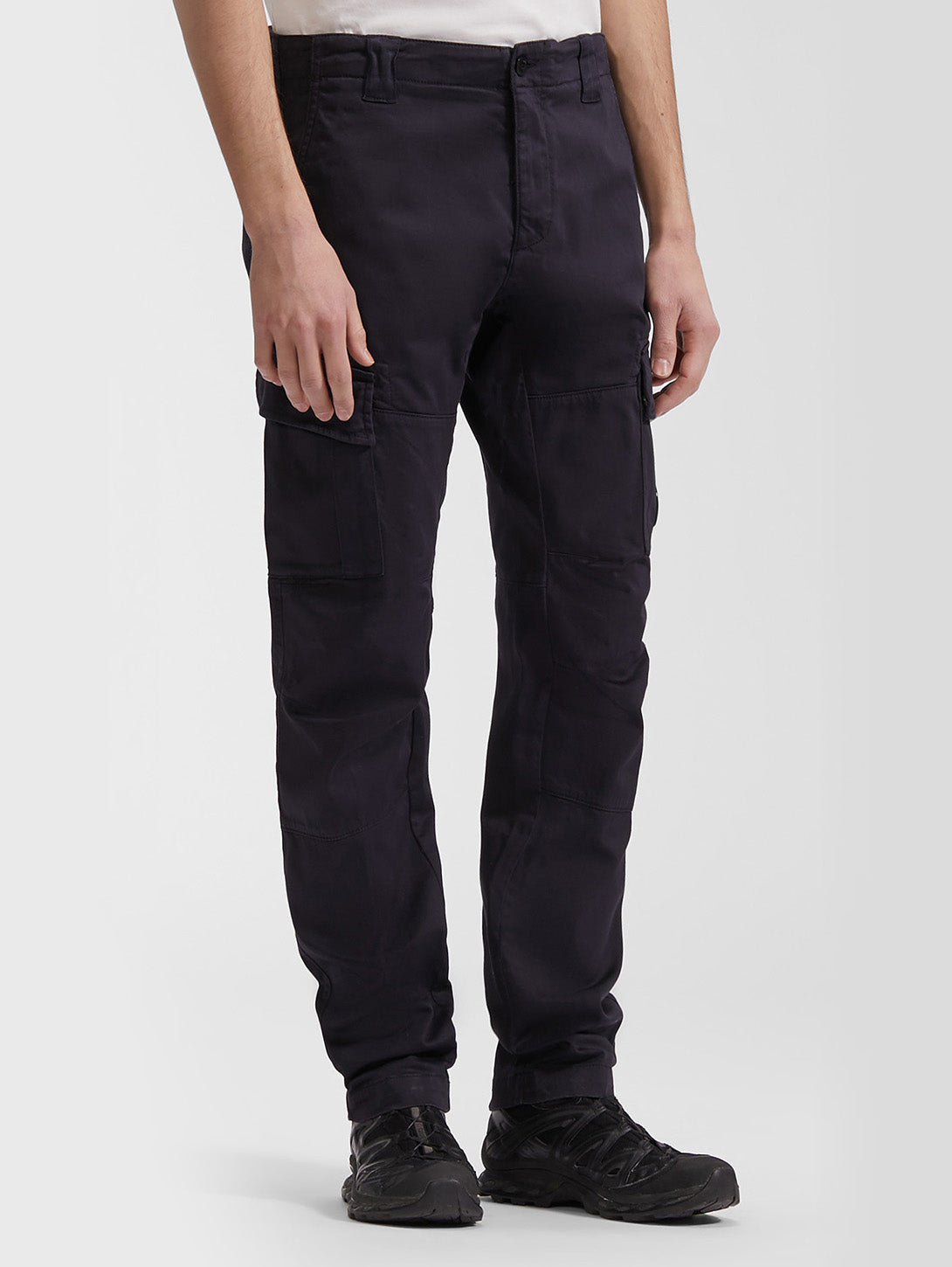 Raso Stretch Sateen Garment Dyed Cargo Pant - Total Eclipse-CP COMPANY-Over the Rainbow