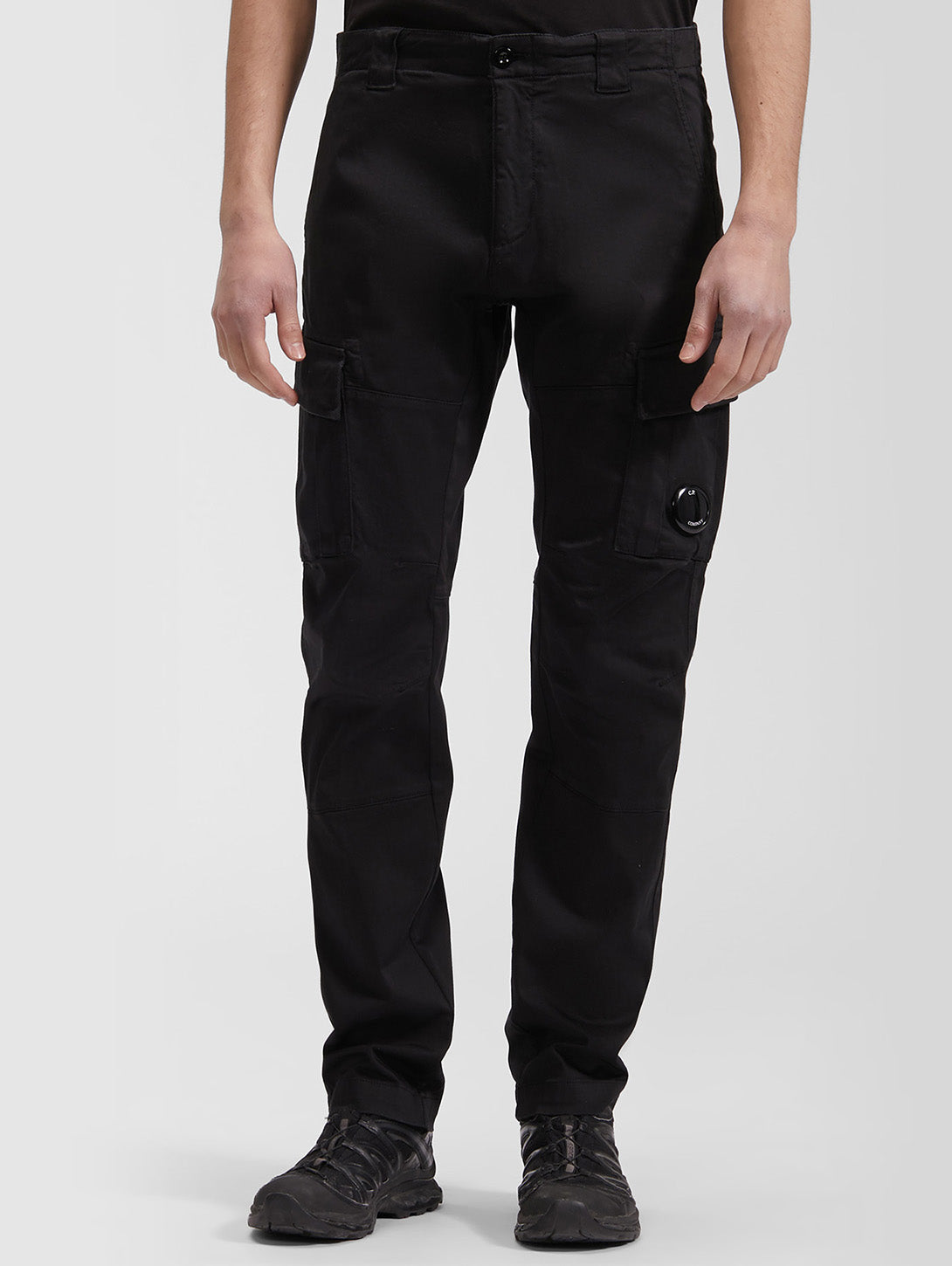Raso Stretch Sateen Garment Dyed Cargo Pant - Black-CP COMPANY-Over the Rainbow