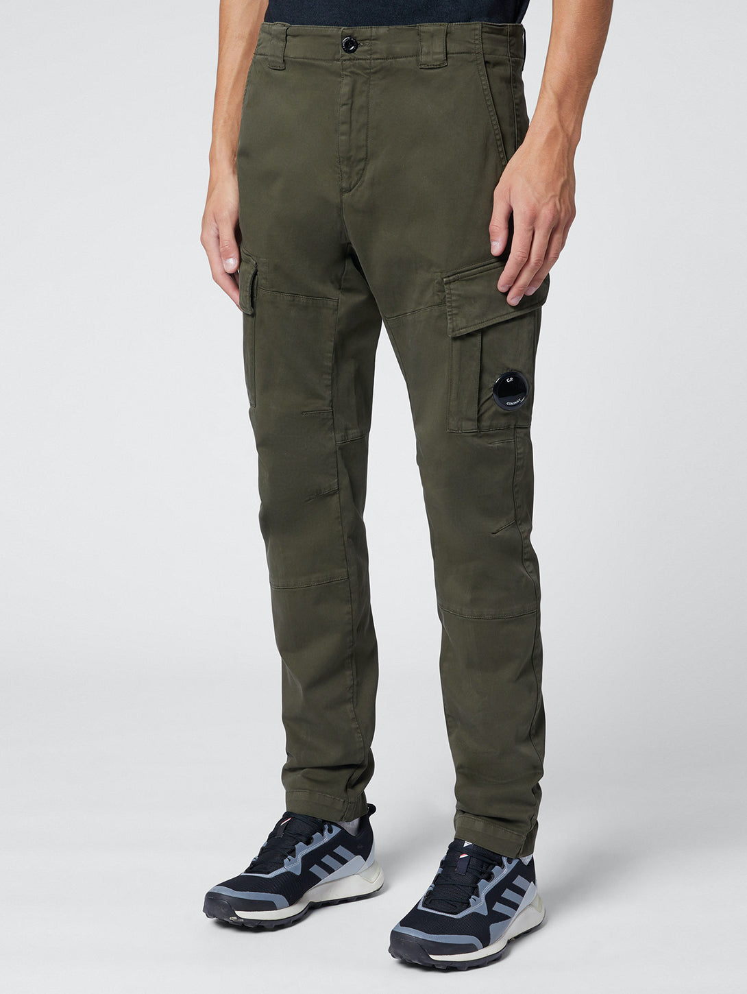 Garment Dyed Stretch Sateen Fitted Lens Pocket Cargo Pant - Ivy Green-CP COMPANY-Over the Rainbow