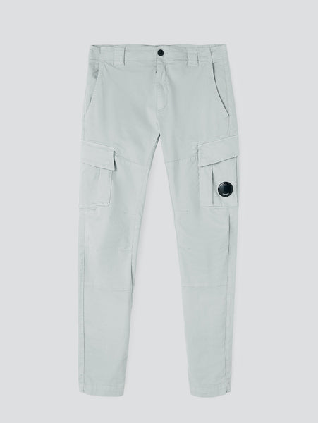 Garment Dyed Stretch Sateen Fitted Lens Pocket Cargo Pant - Quiet Gray-CP COMPANY-Over the Rainbow