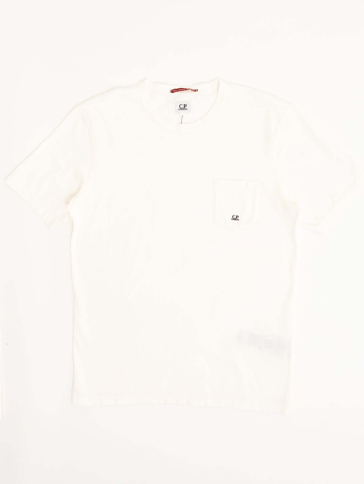 Mako Pocket T-Shirt - Gauze White-CP COMPANY-Over the Rainbow