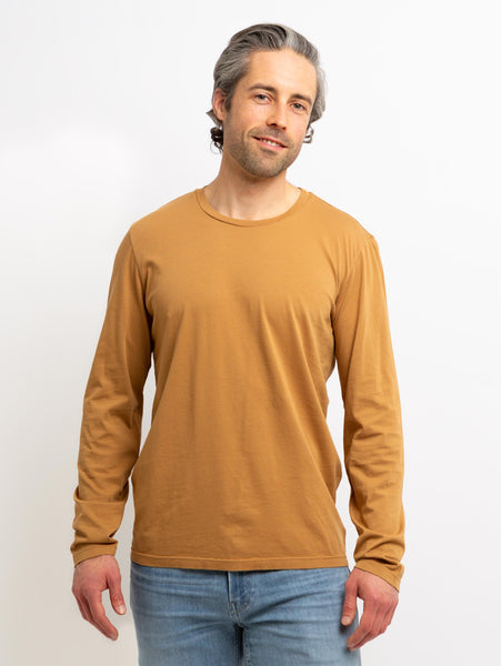 Skeeter Classic Whisper Long Sleeve Top - Camel-Velvet-Over the Rainbow