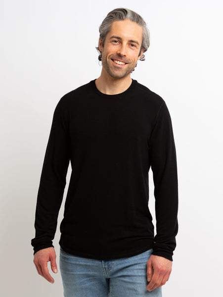 Bronson Cozy Long Sleeve Top - Black-Velvet-Over the Rainbow