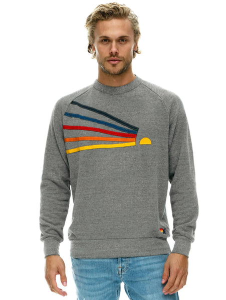 Daydream Pullover Sweatshirt - Heather Grey-AVIATOR NATION-Over the Rainbow