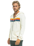 5 Stripe Hoodie - Vintage White-AVIATOR NATION-Over the Rainbow