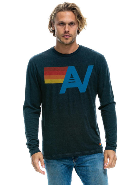 Aviator Nation Long Sleeve Top - Charcoal-AVIATOR NATION-Over the Rainbow