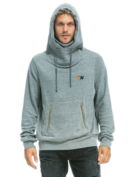 Ninja Pullover Hoodie - Heather Grey-AVIATOR NATION-Over the Rainbow