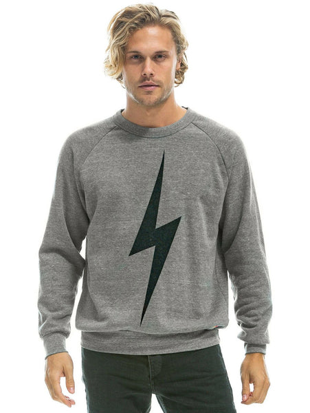Bolt Pullover Sweatshirt - Heather Grey-AVIATOR NATION-Over the Rainbow