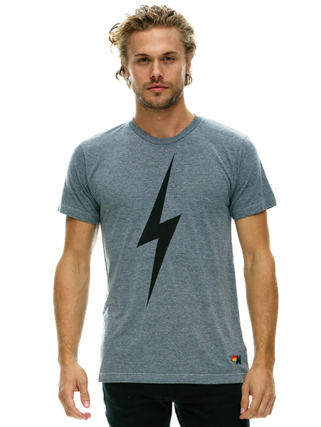 Bolt T-Shirt - Heather Grey-AVIATOR NATION-Over the Rainbow