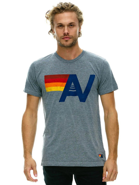 Aviator Nation Logo T-Shirt - Heather Grey-AVIATOR NATION-Over the Rainbow