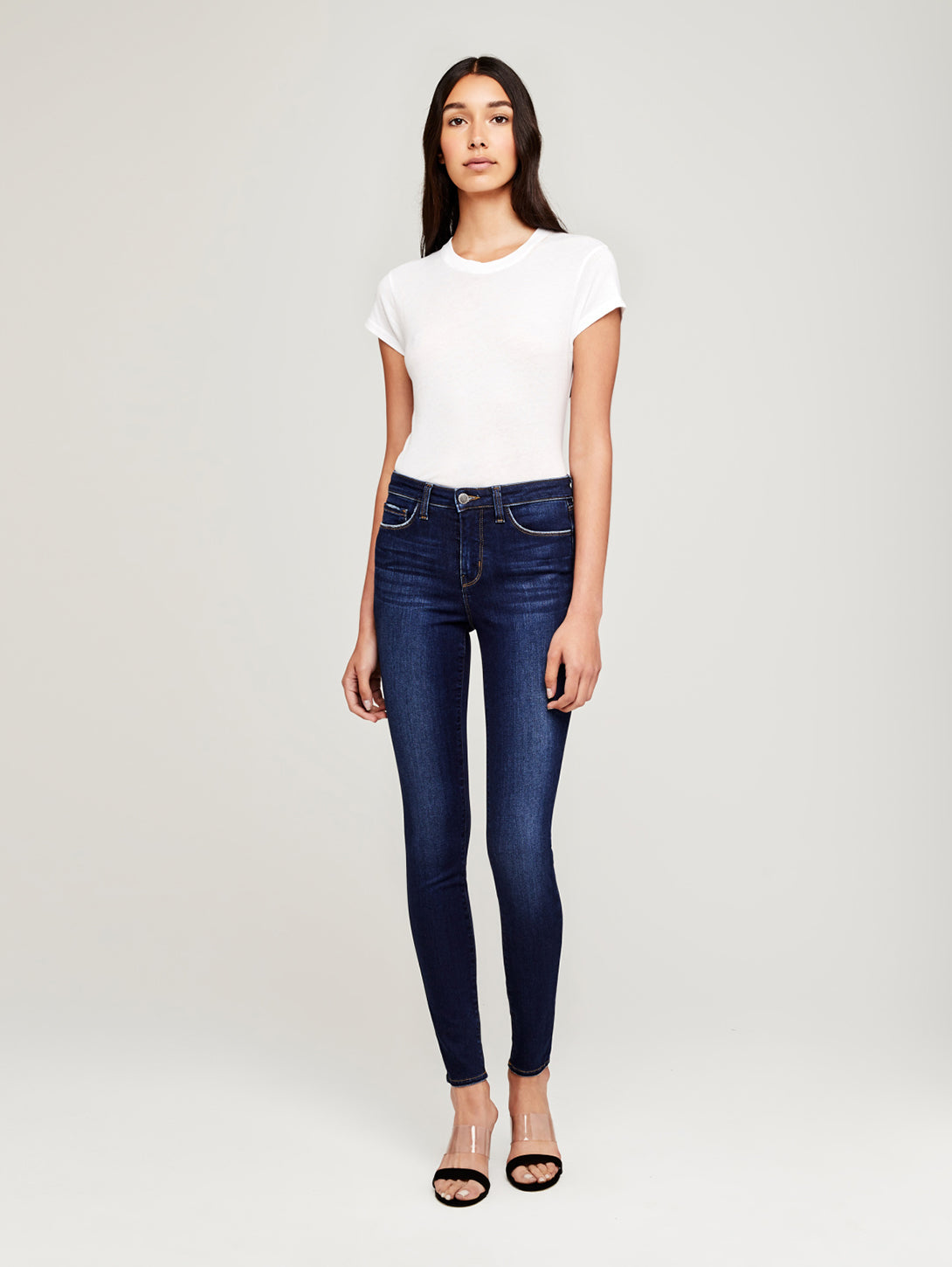 Marguerite High Rise Skinny Jean - Baltic-L'AGENCE-Over the Rainbow