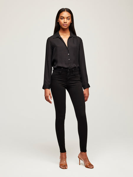Marguerite High Rise Skinny Jean - Noir-L'AGENCE-Over the Rainbow