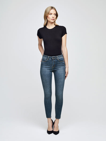 Marguerite High Rise Skinny Jean - New Vintage-L'AGENCE-Over the Rainbow
