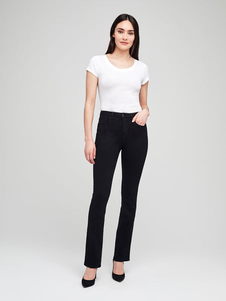 Oriana High Rise Straight Jean - Noir-L'AGENCE-Over the Rainbow